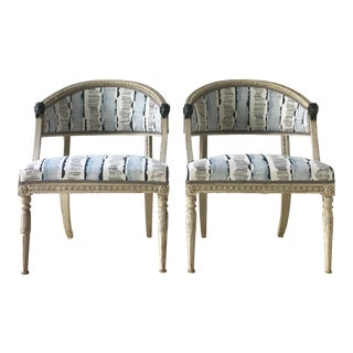 Pair of Swedish Lion Head Chairs Circa 1800 For Sale