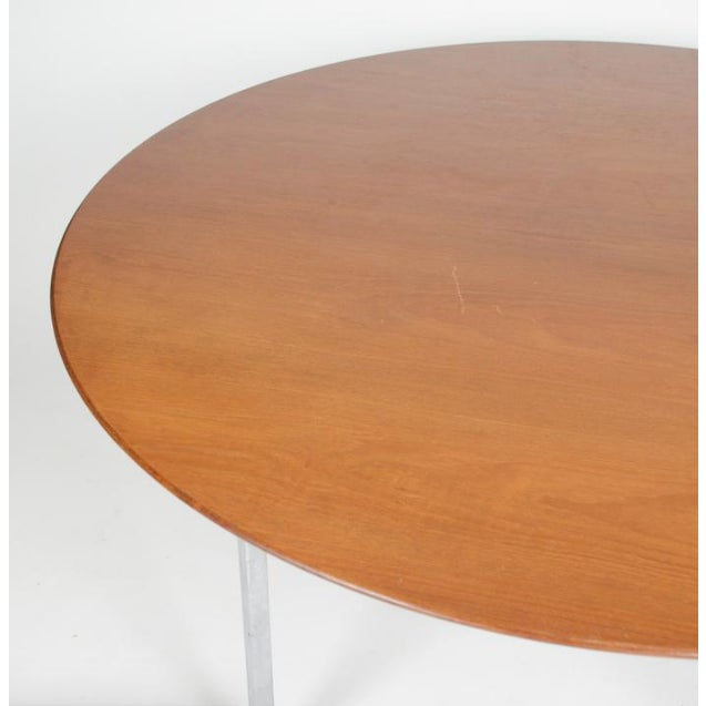 1970s Mid-Century Modern Florence Knoll Dining Table For Sale In Chicago - Image 6 of 11