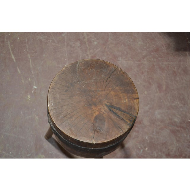 1900's French Butcher Block For Sale - Image 4 of 6