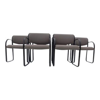 80's Steelcase Armchairs S/6 For Sale