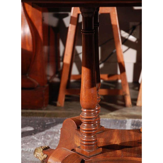 Brown 1840s English Round Mahogany Breakfast Table For Sale - Image 8 of 9