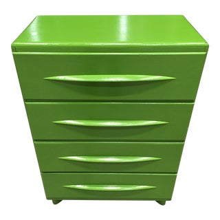 Mid-Century Modern Heywood-Wakefield Style Chest of Four Drawers For Sale