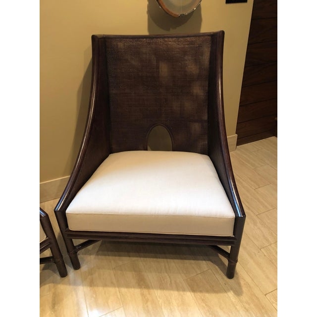 2010s Barbara Barry by McGuire Caned Arm Chair For Sale - Image 5 of 5