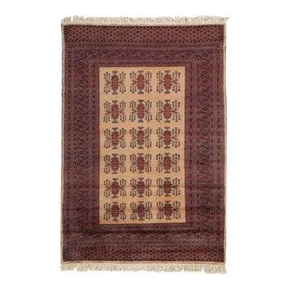 Vintage Turkmen Style Pakistani Wool Rug For Sale
