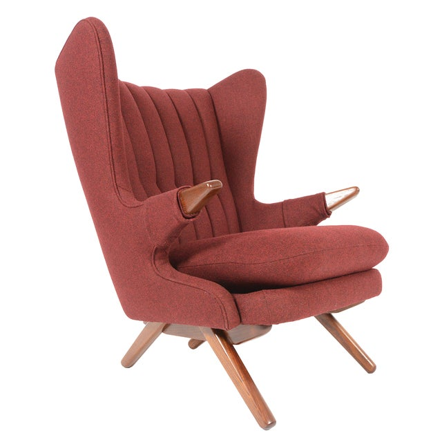 Svend Skipper Model 91 Burgundy Lounge Chair - Image 1 of 10