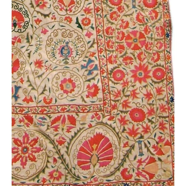 Islamic Suzani Embroidered Textile For Sale - Image 3 of 4