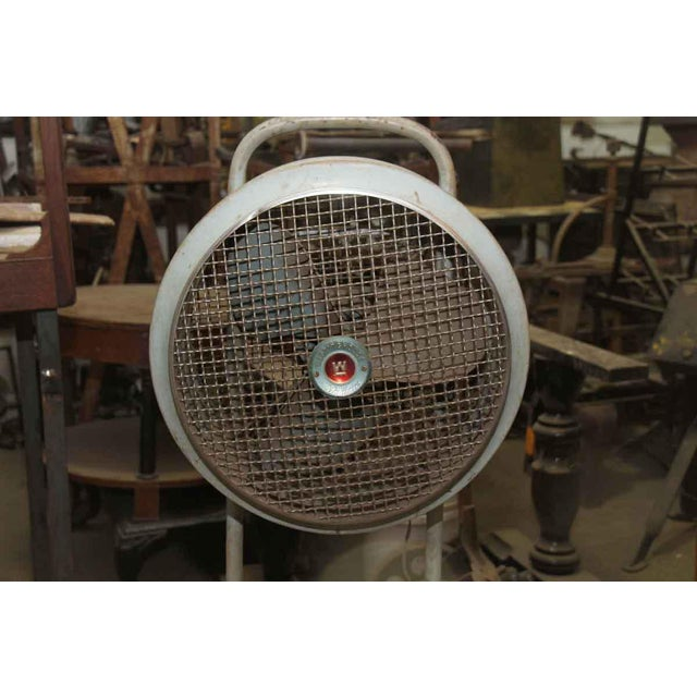 Industrial Vintage Westing House Industrial Fan For Sale - Image 3 of 8