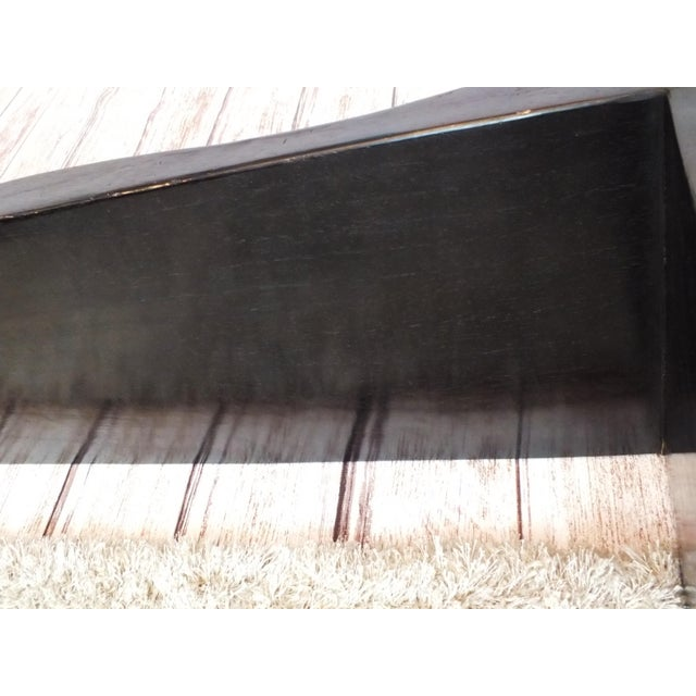 Vintage Wave Bench in Black Lacquer - Image 11 of 11