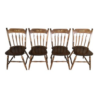 S. Bent Brothers Arrow Back Hitchcock Style Side Chairs - Set of 4 For Sale