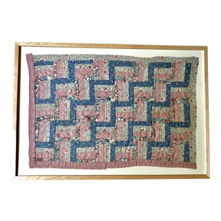 19th Century Framed Baby Patchwork Quilt For Sale