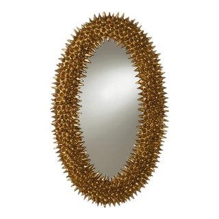 Spiked Design Oval Mirror