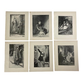 1892 Antique 19th Century American Literature Prints - Set of 6 For Sale