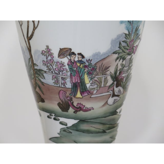 Chelsea House Chinoiserie Decorated Porcelain Table Lamp For Sale In Philadelphia - Image 6 of 11
