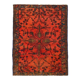 1900s Vintage Hand Knotted Persian Antique Sarouk Rug For Sale