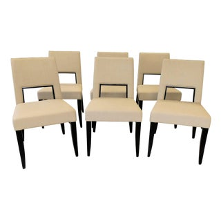 Costentini Pietro Modern Italian Blues Dining Chairs - Set of 6 For Sale
