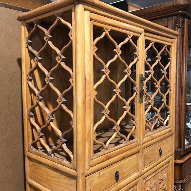 Vintage Boho Chic Asian Cabinet For Sale - Image 5 of 6