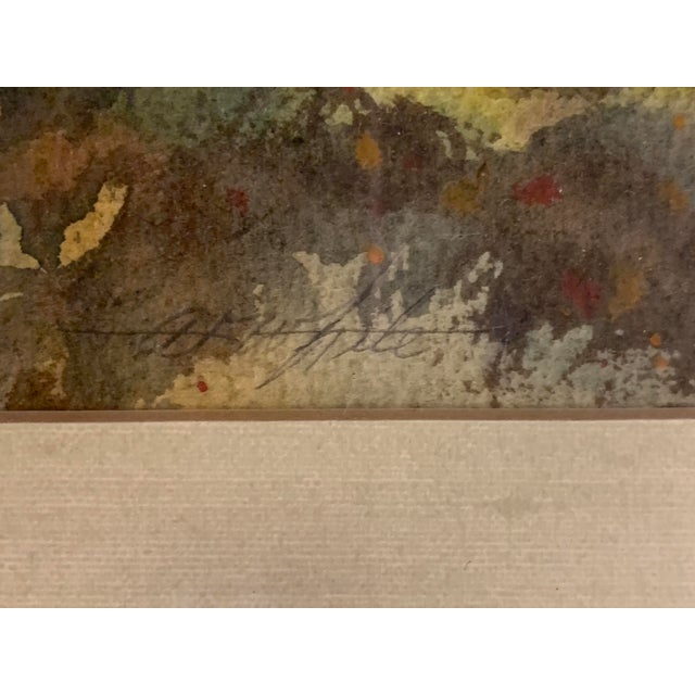 A. F. White Original English Cottage Watercolor Painting, Framed For Sale In Houston - Image 6 of 7