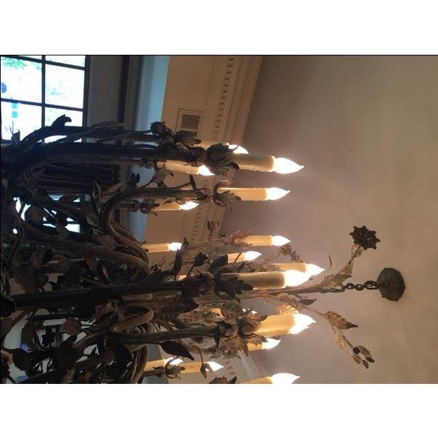24-Light Decorative Ironwork Chandelier - Image 4 of 4