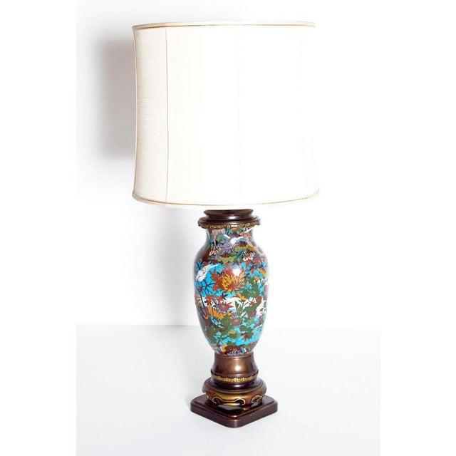 Ceramic Late 19th Century Japanese Meiji Cloisonne Vase as Custom Lamp For Sale - Image 7 of 13