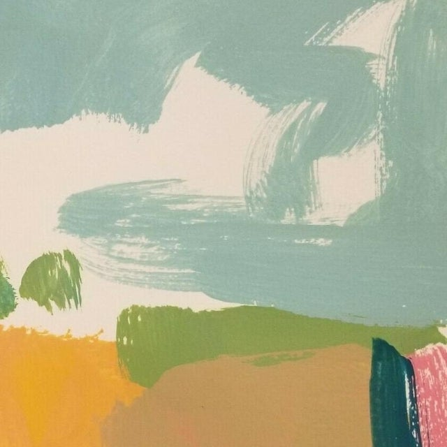 Abstract Jose Trujillo Original Landscape Acrylic on Paper Painting For Sale - Image 3 of 4