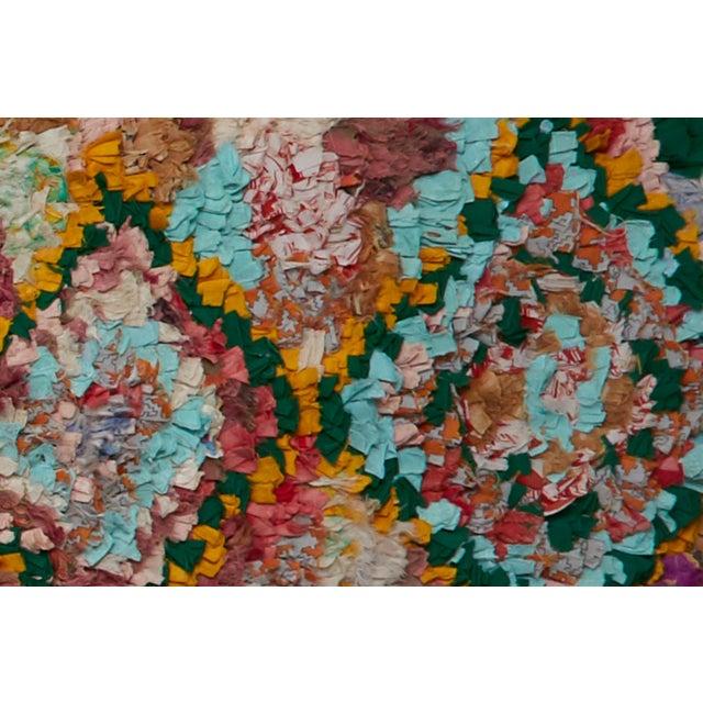 Islamic Moroccan Boucherouite Rug For Sale - Image 3 of 4