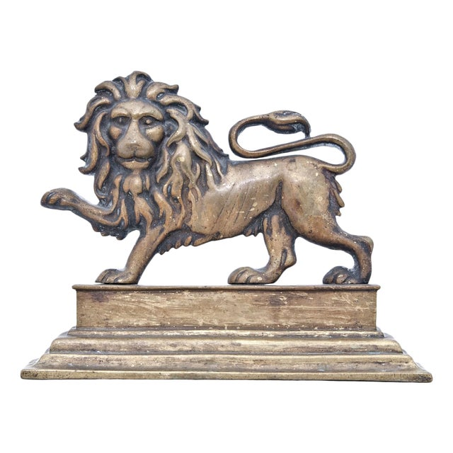 19th Century Victorian English Lion Door Stop For Sale