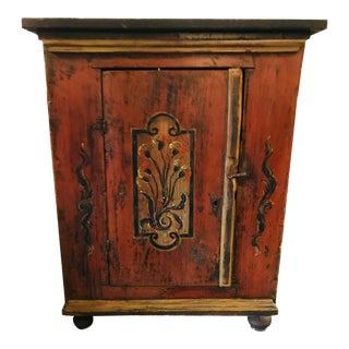 18th Century Swedish, Paint Decorated Cabinet For Sale