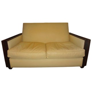 1930's French Art Deco Sofa Inspired by Ruhlmann For Sale