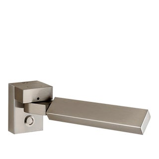 Brushed Nickel Rectangular Wall Reading Light For Sale