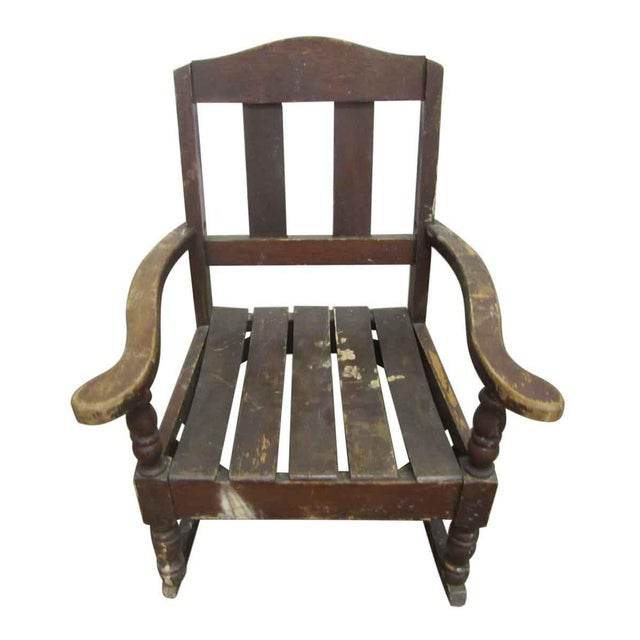 Miniature Wooden Rocking Chair - Image 2 of 8