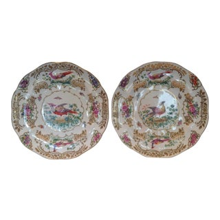 """Pair of Booth's """" Chelsea Birds """" Plates For Sale"""