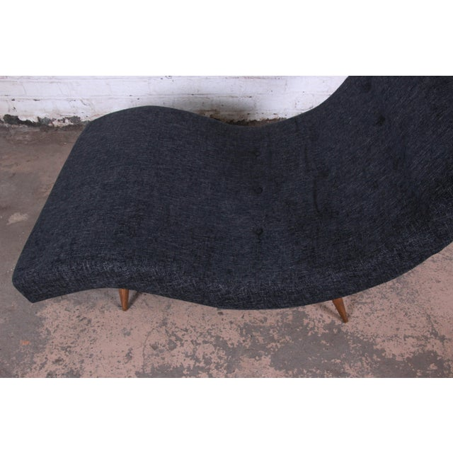 Adrian Pearsall for Craft Associates Mid-Century Modern Wave Chaise Lounge For Sale In South Bend - Image 6 of 8