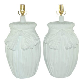 Plaster Table Lamps White For Sale