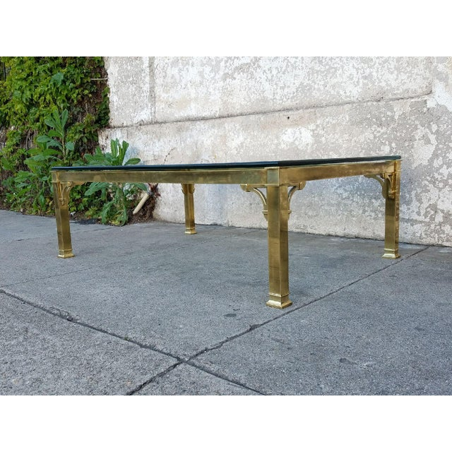 Mastercraft Brass & Glass Vintage Coffee Table - Image 3 of 3