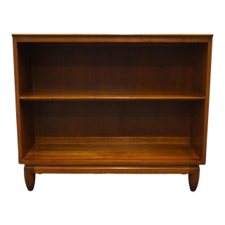 """Willett Furniture Solid Cherry Traditional Style 36"""" Low Accent Bookcase For Sale"""