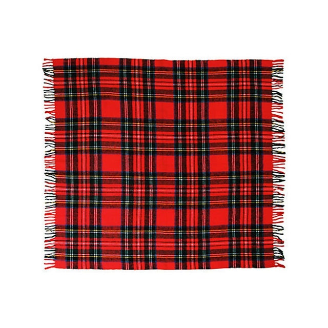 Vintage Plaid Picnic Blanket - Image 2 of 2