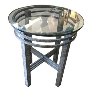 1980s Post Modern Sculptural Side Table For Sale