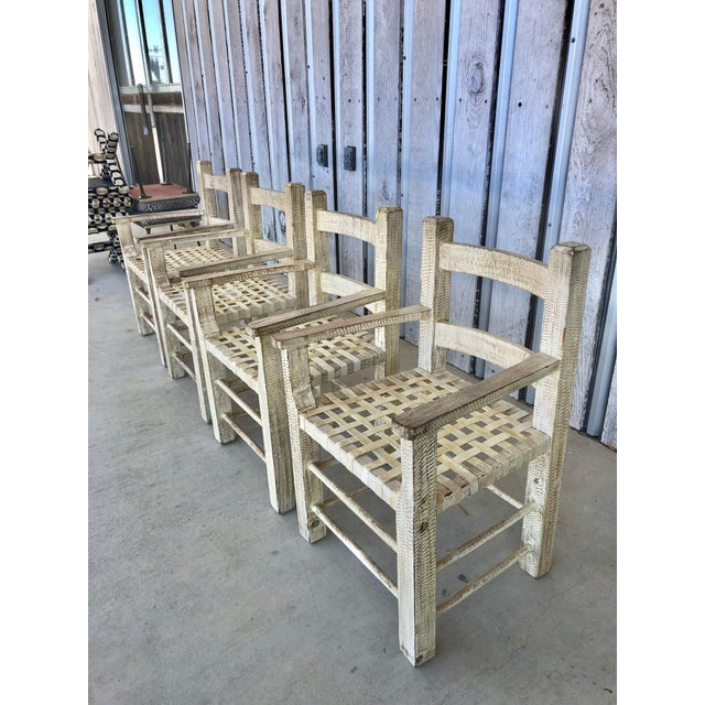 Boho Chic Coastal Hand Carved Chairs by Kreiss For Sale - Image 3 of 7