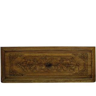 Hand Carved Wood Wall Hanging Panel For Sale
