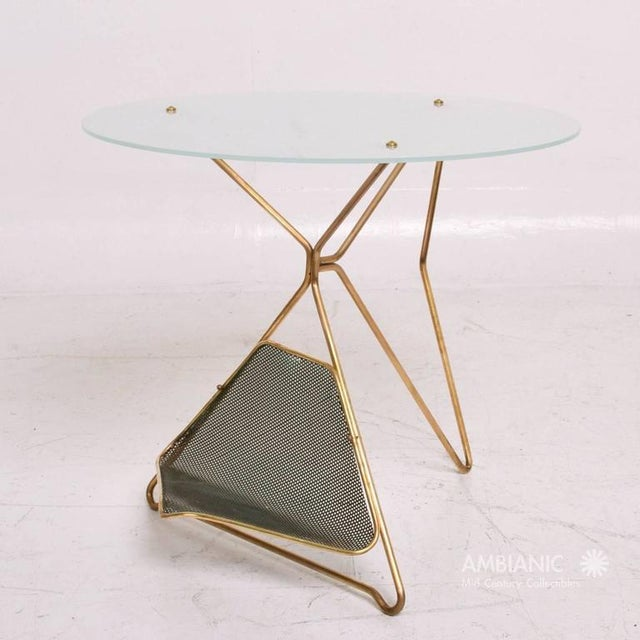 1950s Mid-Century Modern Italian Table With Magazine Holder For Sale - Image 5 of 9