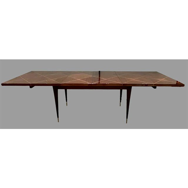 Tommi Parzinger A Tommi Parzinger Originals Dining Table Fully Refinished With Two Leaves For Sale - Image 4 of 13