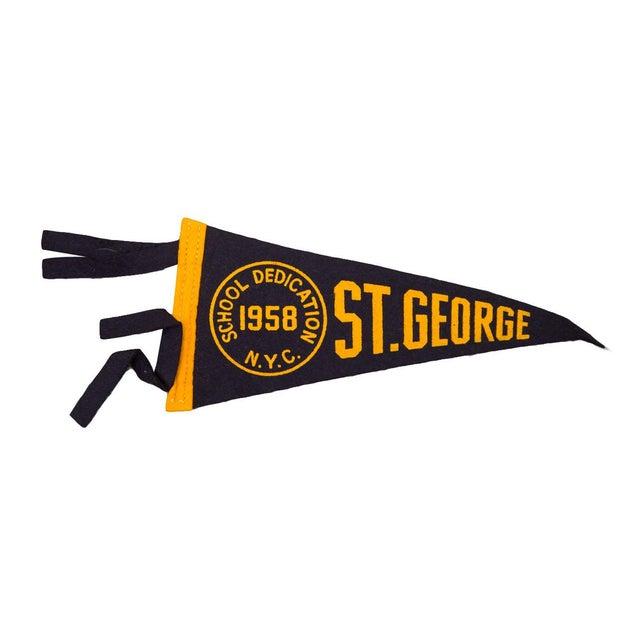 1958 Vintage NYC St. George Felt Flag For Sale