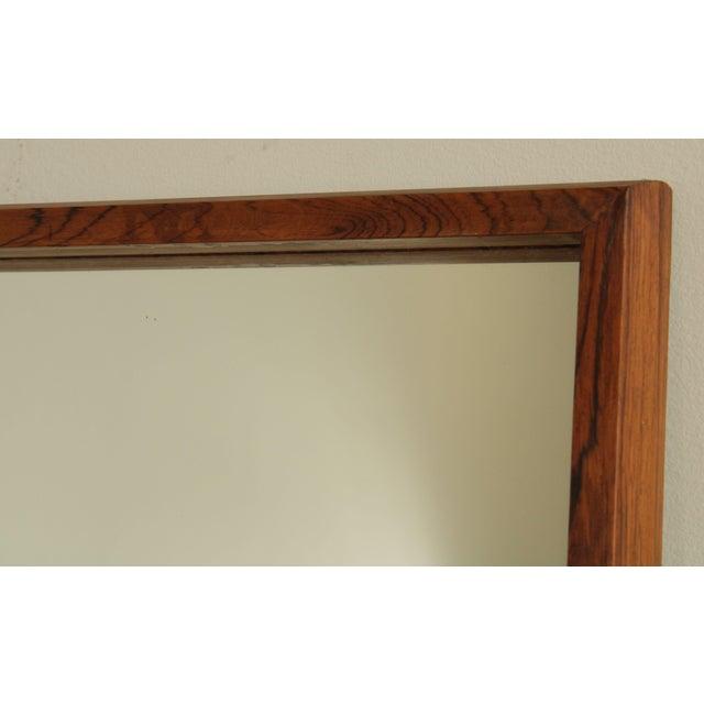 Danish Modern Mid Century Rosewood Rectangular Wall Mirror For Sale In Philadelphia - Image 6 of 13