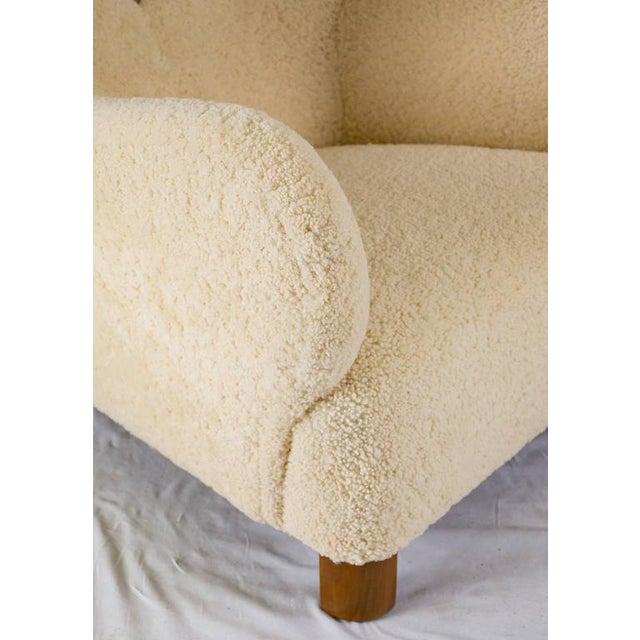 Scandinavian Sheepskin Lounge Chair For Sale - Image 9 of 10