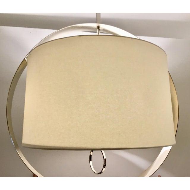 Modern Regina Andrew Modern Large Drum Shade Polished Nickel Derby Chandelier For Sale - Image 3 of 6