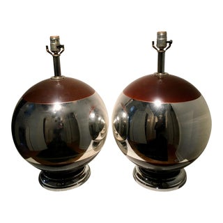 Mid-Century Spherical Mercury Lamps - A Pair