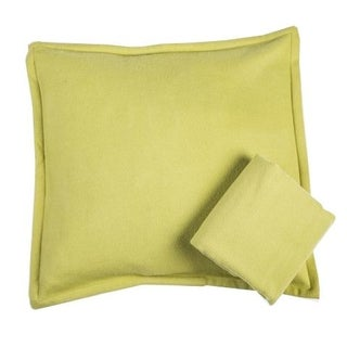 Room & Board Washable Wool Shams in Chartreuse For Sale