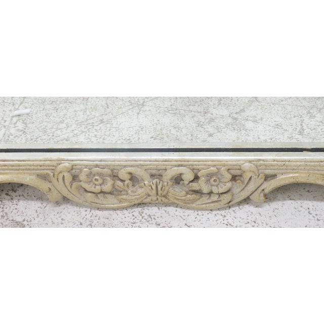 Silver Gilt Carved Mirror For Sale - Image 5 of 6