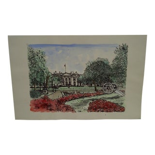 """Limited Edition """"White House"""" Signed Numbered (63/250) Print by Brendehal For Sale"""