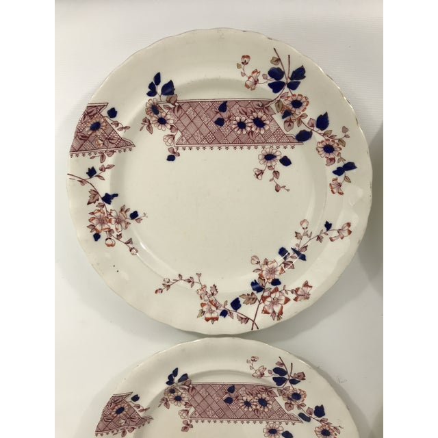 Imari Style Chinoiserie Dinner Plates - Set of 4 For Sale - Image 4 of 11